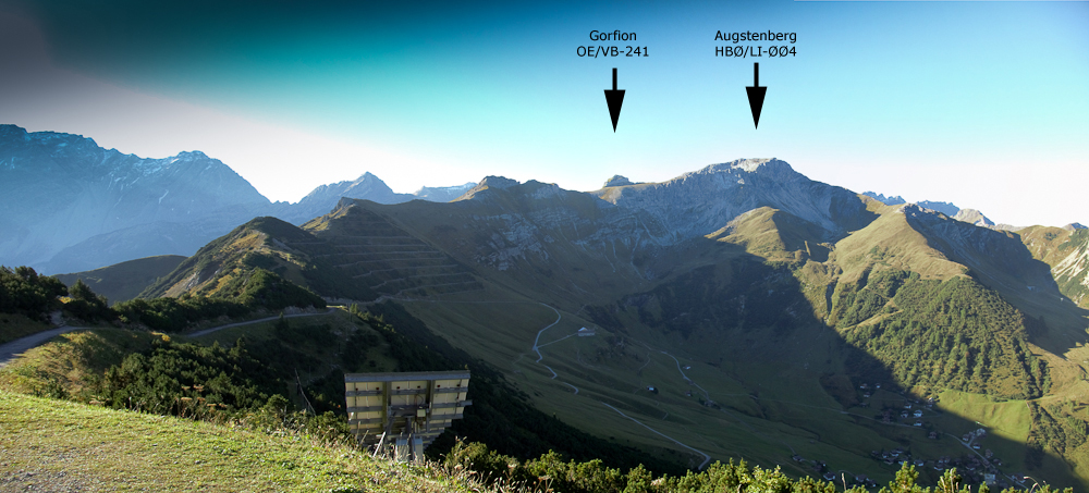 Panorama from the summit station