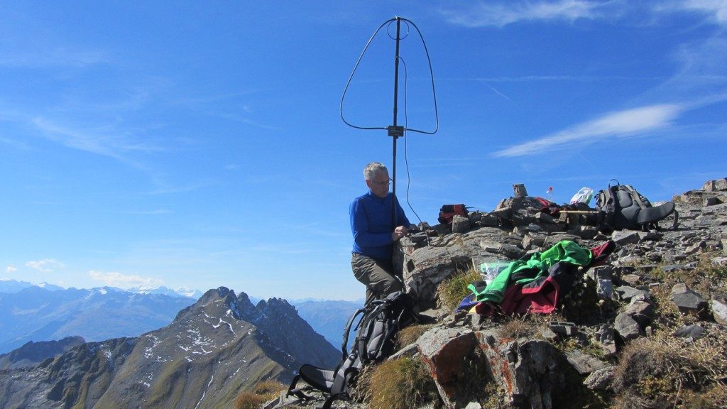 Arno/OE9AMJ on the summit